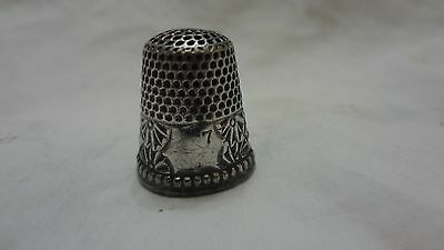 Antique Sterling Silver Detailed Design Thimble by Ketcham & McDougall
