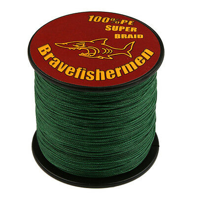 4/8 Strand Spectra 100% PE Dyneema Braid Fishing Line Green 100M 300M 500M 1000M