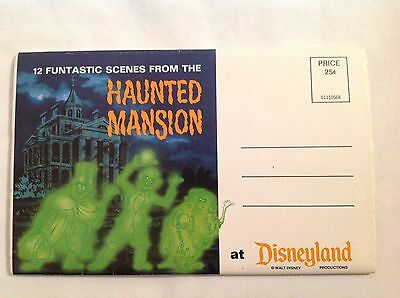 Disneyland Haunted Mansion 12 Funtastic Scenes 1960's postcard folder