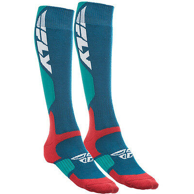Fly Racing NEW MX PRO Blue Red Adults Thick Motocross Dirt Bike Long Socks