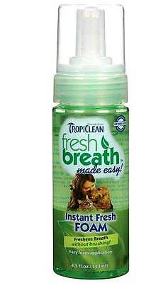 Dental Foam for Dogs Fresh Mint - Oral Hygiene No Brushing Tropiclean 4.5 oz USA