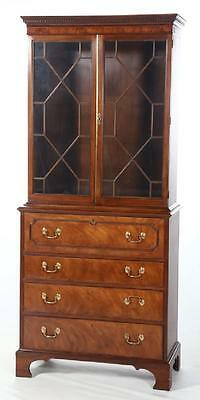 Baker Historic Charleston Collection Secretary Desk with Bookcase Mahogany