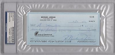 Michael Jordan Signed Personal Check From 1989 Psa/dna Certified Autograph Rare!