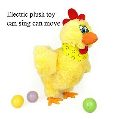 Kinglang Funny Laying Hens Electronic Plush Pet Egg Singing Chicken Funny Toy