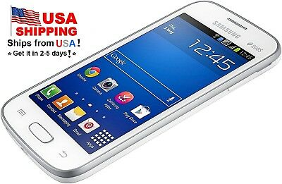 "T-Mobile Dual SIM Samsung GALAXY S DUOS S7562 5MP 4"" Unlocked Cellphone White"