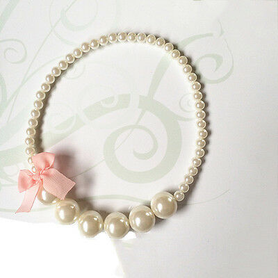 Princess Pearls Necklace Baby Girls Toddlers Children's Party Jewelry Fashion