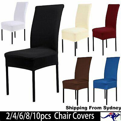 2/4/6/8/10Pcs Stretch Chair Cover Seat Covers Spandex Washable Banquet Wedding