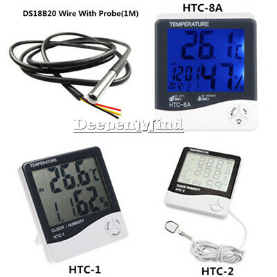HTC-2 HTC-1 HTC-8A LCD Indoor Thermometer Hygrometer Temperature Humidity Meter