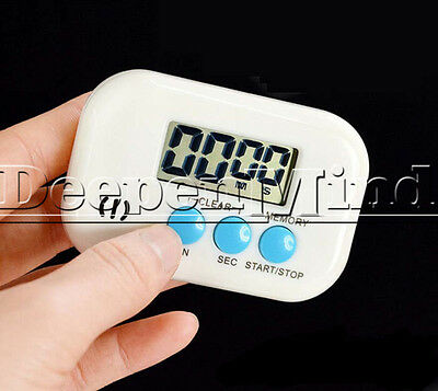 Magnetic Digital LCD Kitchen Cooking Timer Count Down Up Electronic Alarm Clock