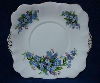 "A Royal Standard "" Forget-Me-Not "" Fine Bone China England Sandwich Plate"