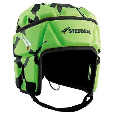Steeden T-Rex-100 HEAD GUARD Senior, Adjustable Lace Up System, Lime *Aust Brand