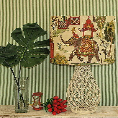 Lge Aus Made LampShade Elephant Toile 43x30cm 2 Fittings Made to Order 1-2 weeks