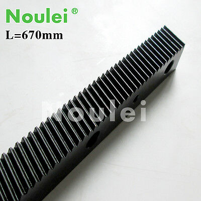 1.25 modulus helical Gear Rack steel 670mm high precision for cnc router