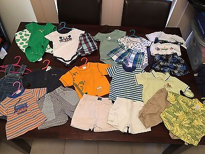 Baby Boys Size 6-12 Months Or 00-0 Clothes Summer Gymboree + Others 20 Items