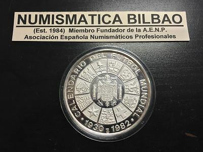 España Medalla Plata 1930/1982 Calendario Mundial Futbol Germany United Kingdom