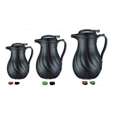 Thermal Carafes Update International FB3022/60 Black Swirl with Push BT, 64 oz.