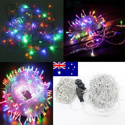 250 500 LED 50/100M Fairy String Lights Wedding Outdoor Yard Party 4 Color Mixed