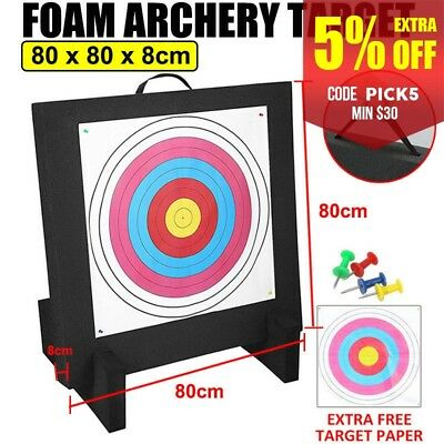 80x80cm Foam Archery Target Self Healing XPE Board Recurve Bows Hunting