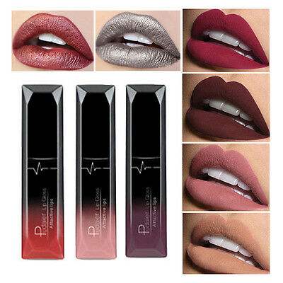 Frauen Metallic & Velvet Matte Makeup Tint Lip Gloss Long Lasting Lippenstift