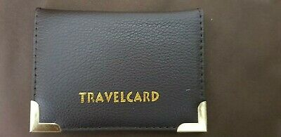 Leather Oyster Travel Card Wallet ID  Train Bus Pass Credit Card holder purse