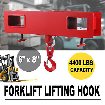 2 Tonne Forklift Lifting Hook Hoist Swivel Telehandler Crane Jib Steel