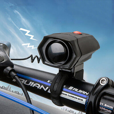 Bicycle Cycling 110db Police Car Bike Siren Electric Light Ultra Loud Horn Bell