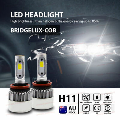 2x H11 160W 16000LM CREE Car COB LED Headlight Kit Beam Bulbs 6000K High Power