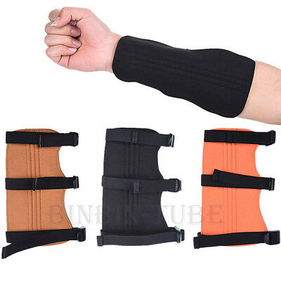 Shooting Archery Arrow Leather Arm Guard Super Fiber Arm Hand Safety Protector