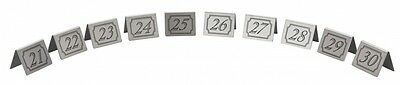 21-30 Stainless Steel Table Numbers -Great For Restaurant Bar Pub Cafe