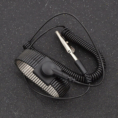 1 Pc Black Anti Static ESD Wrist Band Strap Grounding Wired Discharge Electronic