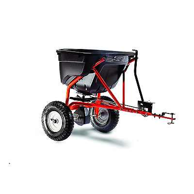 Tow Behind Broadcast Spreader Salt Fertilizer Snow Winter Lawn Grass Yard Hopper