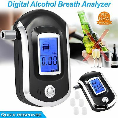 LCD Digital Professional Breathalyser Alcohol Breath Tester Analyser