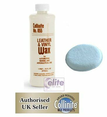Collinite 855 Leather & Vinyl Wax - Long Lasting Protection - FREE Applicator