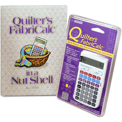 Calculated Industries Quilter's FabriCalc Plus Companion Workbook Bundle-
