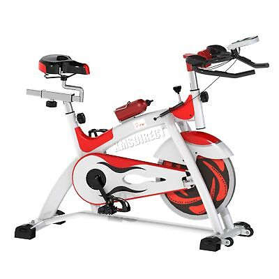 FoxHunter Fitness Exercise Bike Cycling Indoor Workout Trainer EB05 White Red
