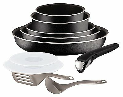 Tefal L2009802 Set de poêles et casseroles - Ingenio 5 Essential Noir Set 10...