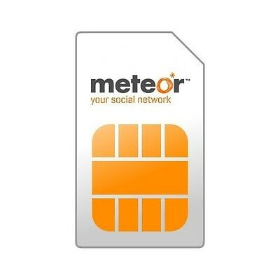 Meteor Mobile Ireland Irish 3 in 1 Sim Card Micro Nano Sim 4G Free Deilivery