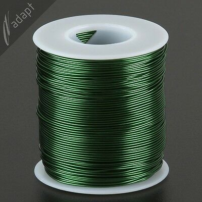 Magnet Wire, Enameled Copper, Green, 20 AWG (gauge), 155C, ~1 lb, 315 ft SPN