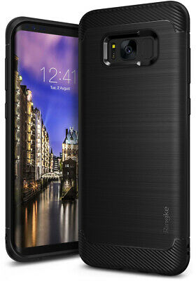 For Samsung Galaxy S8 | Ringke [Onyx] Brushed Metal Design Cover Anti-Slip Case