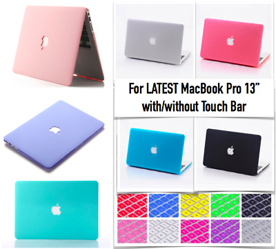MacBook Pro 13 Inch Touch Bar Case+ Keyboard+ Screen Cover A1989 A2159 Year 2019
