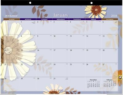 At-A-Glance Paper Flowers Desk Pad - Calendars