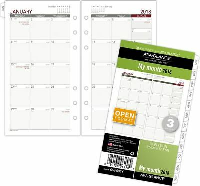 At-A-Glance Day Runner Monthly Planner Refill Size 3 - Loose-Leaf Planner