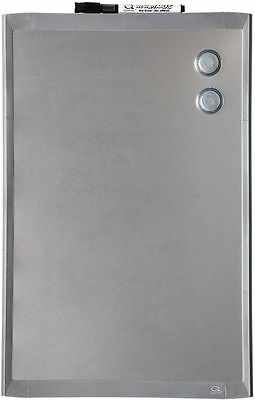 Quartet Magnetic Dry-Erase Board w- Stainless Steel Finish, 11  x 17  (MHOS1117)