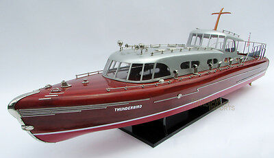 """Thunderbird 38"""" Handcrafted Wooden Model Yacht Boat"""