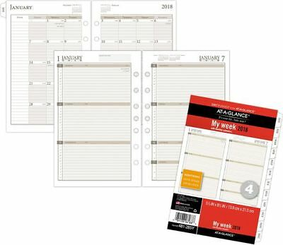 At-A-Glance Day Runner Weekly Planner Refill Size 4 - Loose-Leaf Planner Refills
