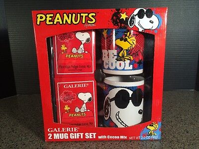 Peanuts 2 Mug Be Cool Gift Set with Snoopy and Woodstock