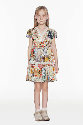 TWINSET Abito Girl Cotone Stampa Patchwork GS6251