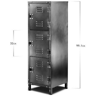 "All Trade 39"" (99.1 cm) 3 Door Slim Locker Cabinet Staff/Office/Retail/Storage"