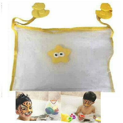 Kids Bath Mesh Bag Tidy Tub Toys Net Baby Storage Pouch Organiser Holder Suction