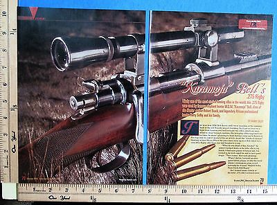 2010 KARAMOJA BELL'S 275 RIGBY rifle 7-Pg MAGAZINE ARTICLE by Harry Selby 8982